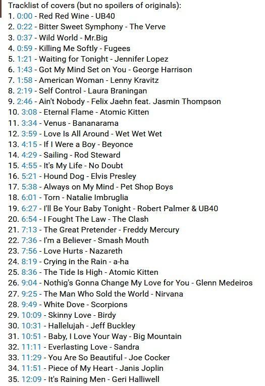Ces 80 chansons sont des reprises