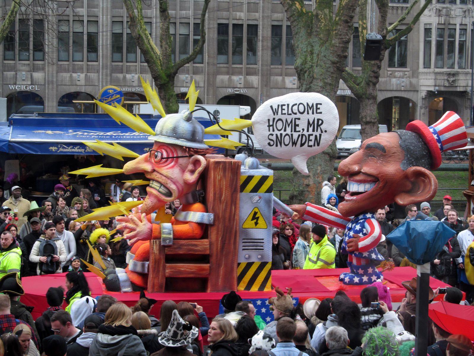 Les chars du carnaval de Düsseldorf