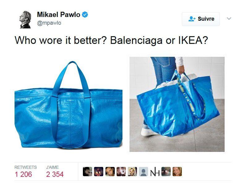 Sac Balenciaga : 1 700€ vs Sac Ikea : 2€