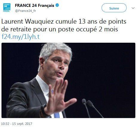 Une petite fake news de Laurent Wauquiez