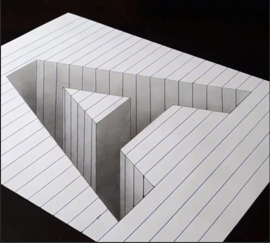 Illusion 3D : la lettre A