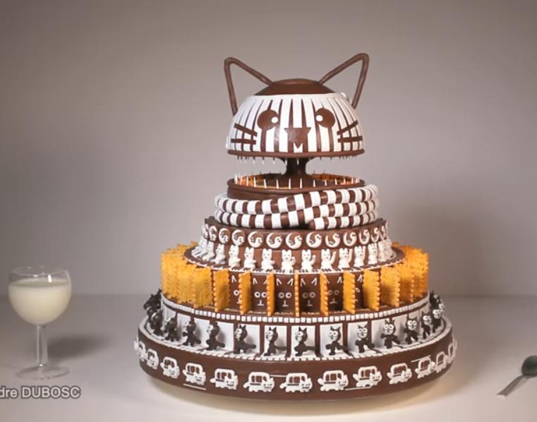 Gâteau Zootrope Chat