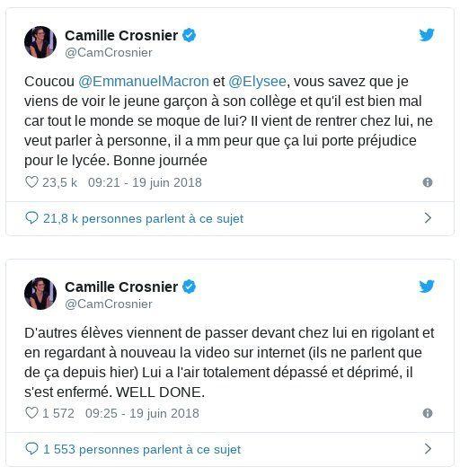 Macron et le harcèlement