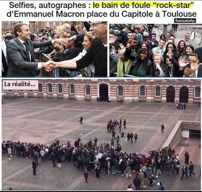 "La ""bain de foule"" de Macron"