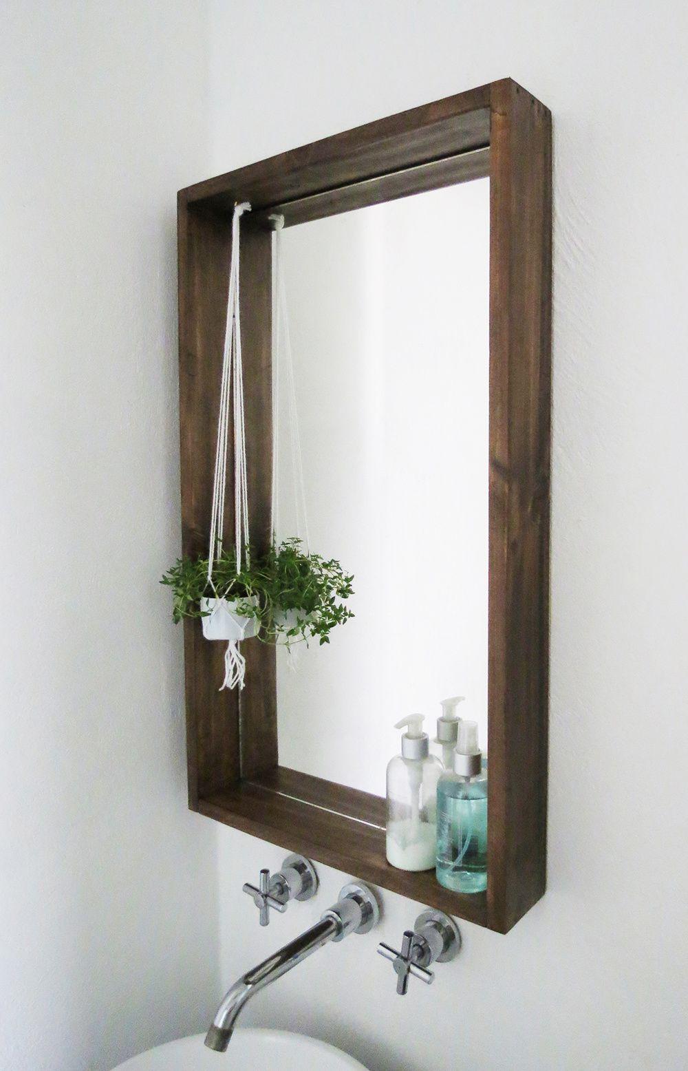Un cadre pour le miroir de la salle de bain - IDÉES MAISON