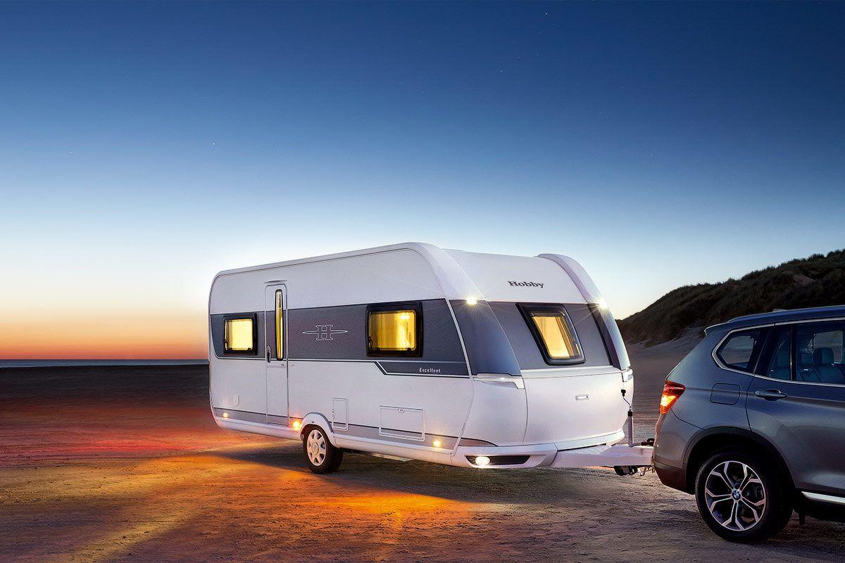 Une luxueuse caravane signée Hobby-Caravans.