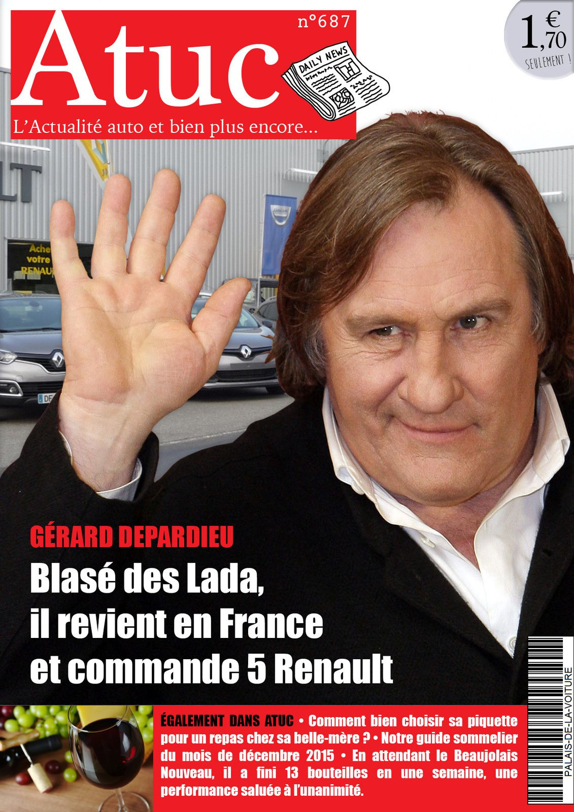Atuc n°687 • Blasé des Lada, Gérard Depardieu revient en France et commande 5 Renault !