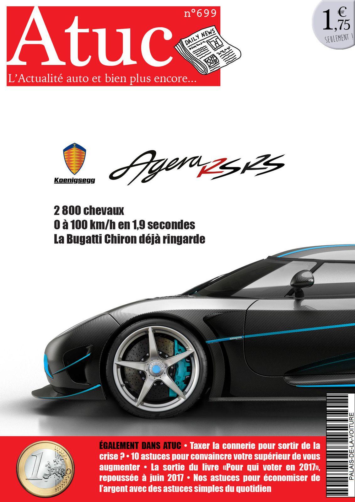 Atuc n°699 • La Koenisegg Agera RS-RS estimée à 2 800 chevaux