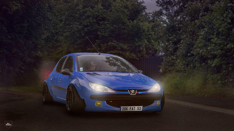 Peugeot 206 vs Photoshop