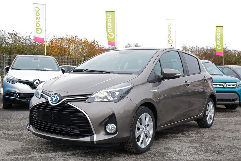 La Toyota Yaris hybride est un modèle très polyvalent et économe à l'usage, est disponible chez notre partenaire Qarson.