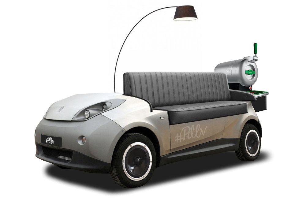 Un canapé cuir sur base d'Autolib, cela connaitrait sans aucun doute un beau succès !