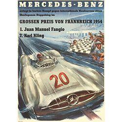 Affiche Mercedes 1954