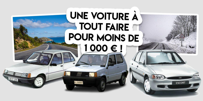 Rouler en voiture à moins de 1 000 €, c'est possible !