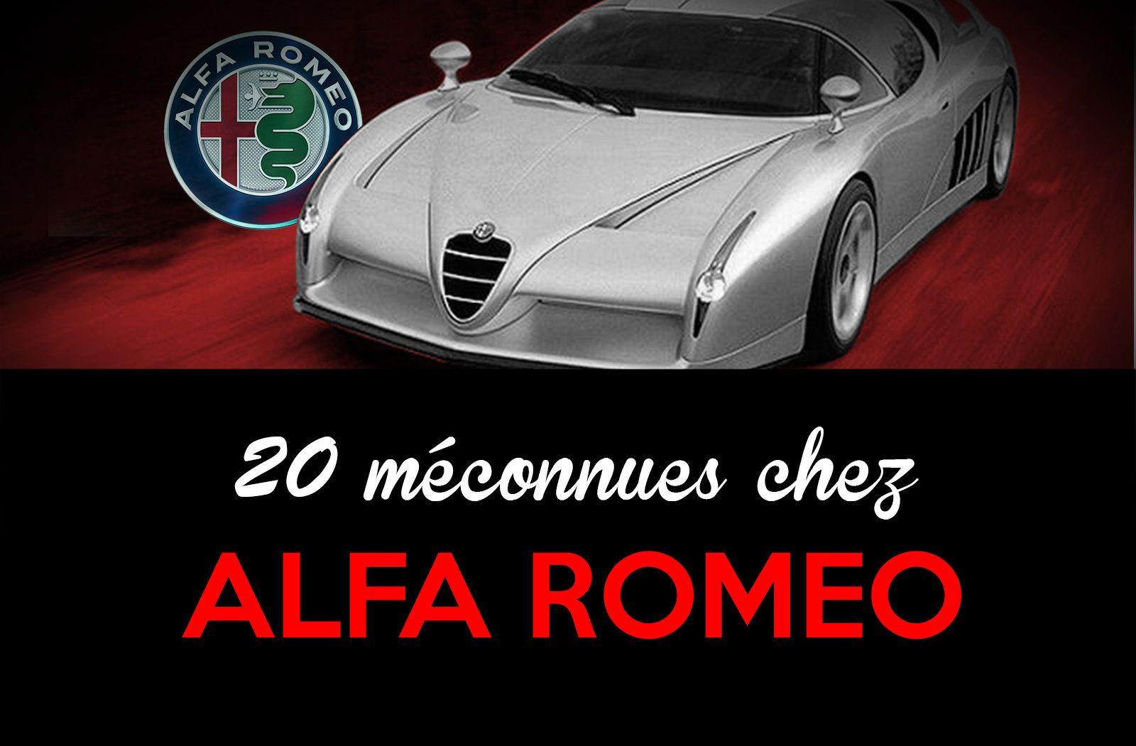 20 modèles Alfa Romeo que nous avions oublié
