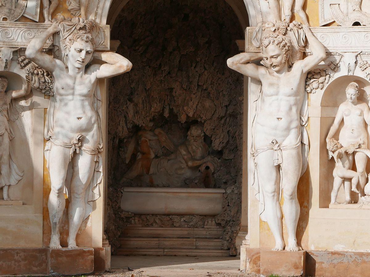 La villa Maser - Palladio, Véronèse. Sur la 4ème image, un autoportrait supposé de Véronèse en costume de chasse