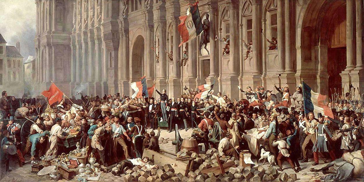 Henri Félix Emmanuel Philippoteaux (1815-1884) - Lamartine devant l'Hôtel de Ville de Paris le 25 février 1848 refuse le drapeau rouge - Musée Carnavalet