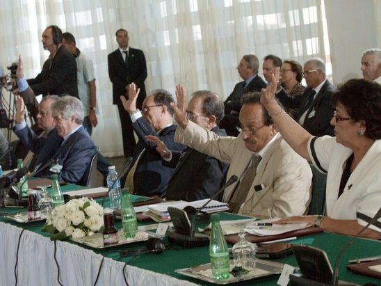 Organisations patronales, lors d'une Tripartite. Photos DR
