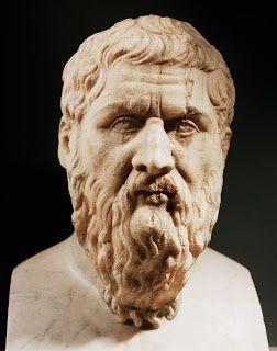 Platon (427-347 avant JC) philosophe de la Grèce antique, élève de Socrate et professeur d'Aristote.