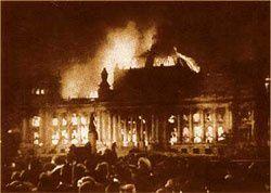 Le parlement allemand en feu