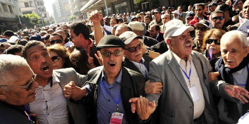 le 12 janvier 2016 sit in devant le parlement de Rabat. Photo DR