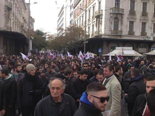 Manifestants le 8 décembre à Athènes. Photo DR