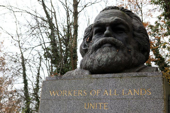 Buste de Karl Marx au cimetière de Highgate, à Londres. Photo DR
