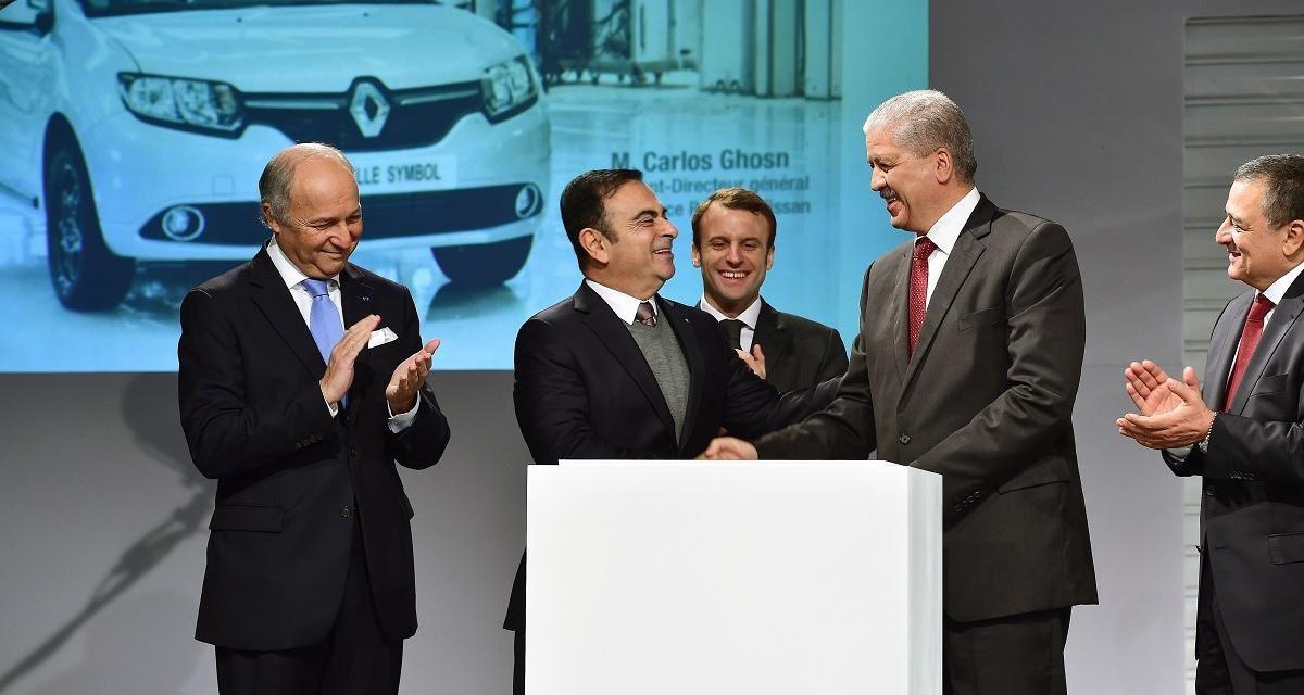 2014, inauguration usine de montage Renault. Sellal, Fabius, Ghost, Macron, Bouchouareb. Photo DR