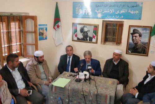 """Le choix de Ghardaïa, témoignage de soutien aux """"militants du parti victimes d'un harcélement judiciare éhonté"""". Photo DR"""