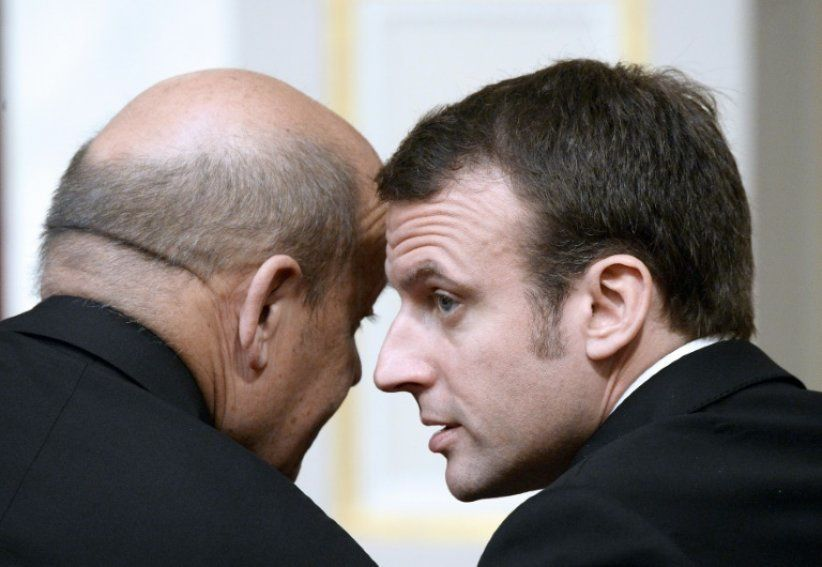 Macron-Le Dryan. Photo DR