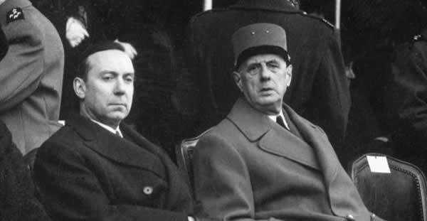 Le général de Gaulle et son Premier ministre Michel Debré. Photo DR