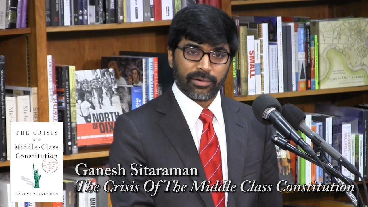 Ganesh Sitaraman est l'auteur de The Crisis of the Middle-Class Construction. Photo DR