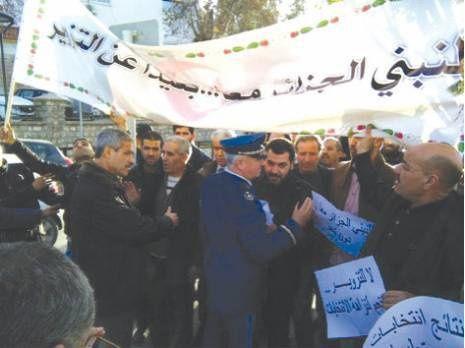 Constantine. Rassemblement de militants contre la fraude. Photo DR