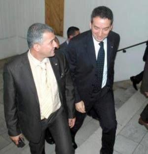 Avant qu'il rejoigne le FLN, Hakim Bettache, le maire d'alger-centre (à gauche) en compagnie du chef du MPA,  Amara Benyounès