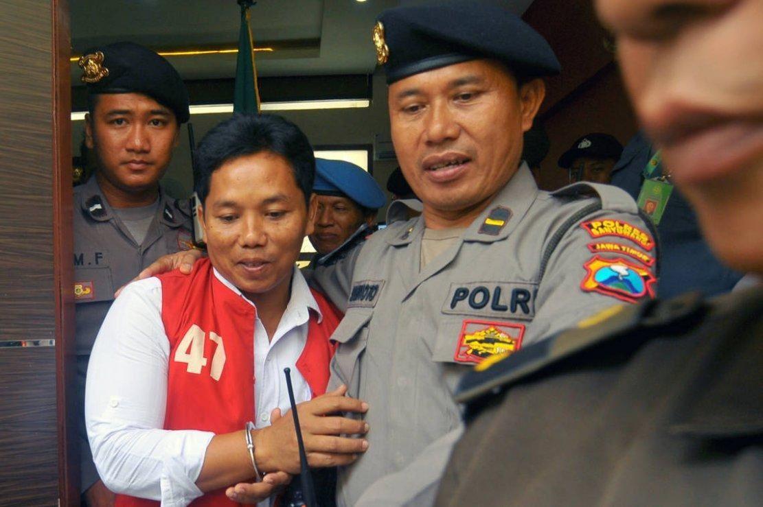 Le défenseur indonésien de l'environnement Heri Budiawan au tribunal, le 23 janvier 2018. Photo DR