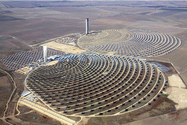 Centrale solaire à concentration de puissance. Photo DR.