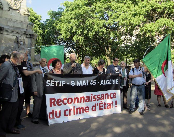 8 mai 2018. Rassemblement place du Châtelet au centre de Paris. Photo DR