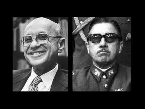 Milton Friedman, le père intellectuel des Chicago boys, a visité Pinochet durant les années les plus dures de sa dictature. DR