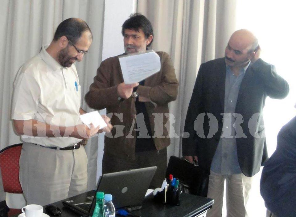 De gauche à droite : Mourad Dhina, Rachid Mesli et Mohamed-Larbi Zitout, du Secrétariat de Rachad