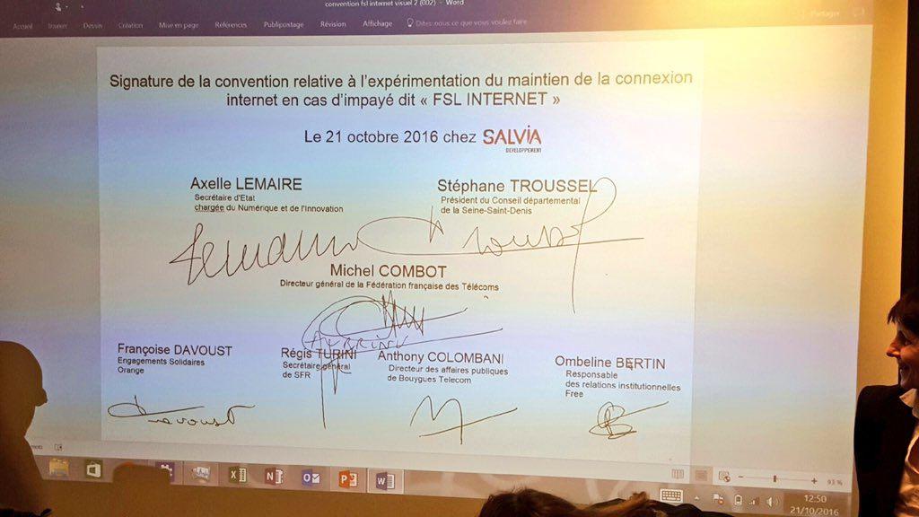 Maintien de la connexion internet pour les plus démunis: Seine-Saint-Denis et Haute-Saône départements pilotes à compter du 1er janvier 2017
