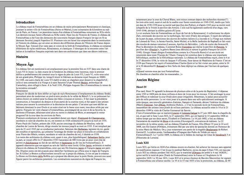 Document formaté avec des feuilles de style