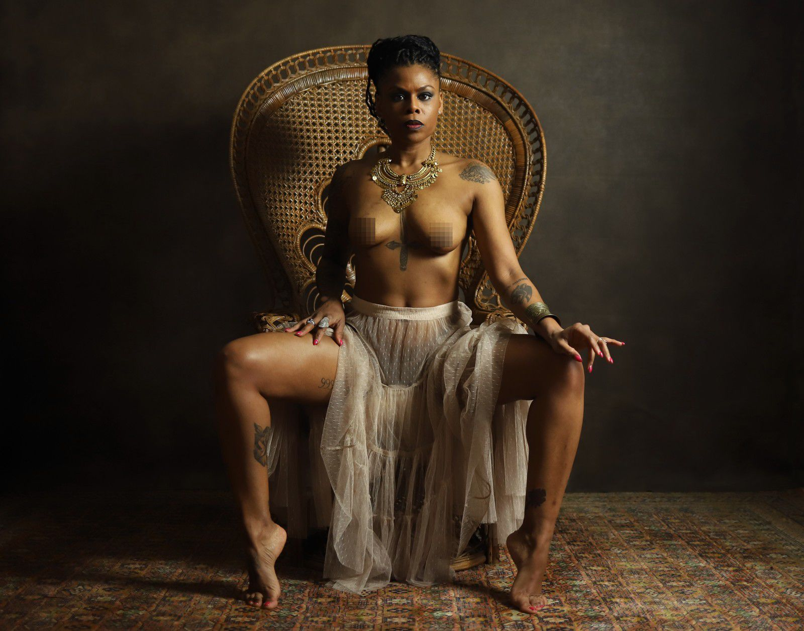 Model / Photography / French / Nude Art / Inked / Melanin / Women / Black woman / Be Barock / Bebabrock
