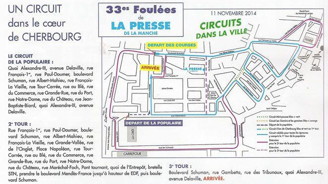 #Cherbourgencotentin : 11 novembre : les Foulées de la Presse de la Manche ! #marathon