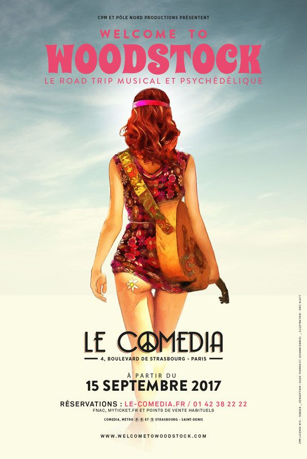 #Spectacle : Welcome to Woodstock au #Comedia dès le 15 septembre !