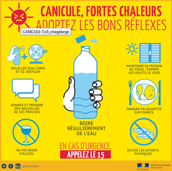 PLAN NATIONAL #CANICULE : Adoptez les bons reflexes !