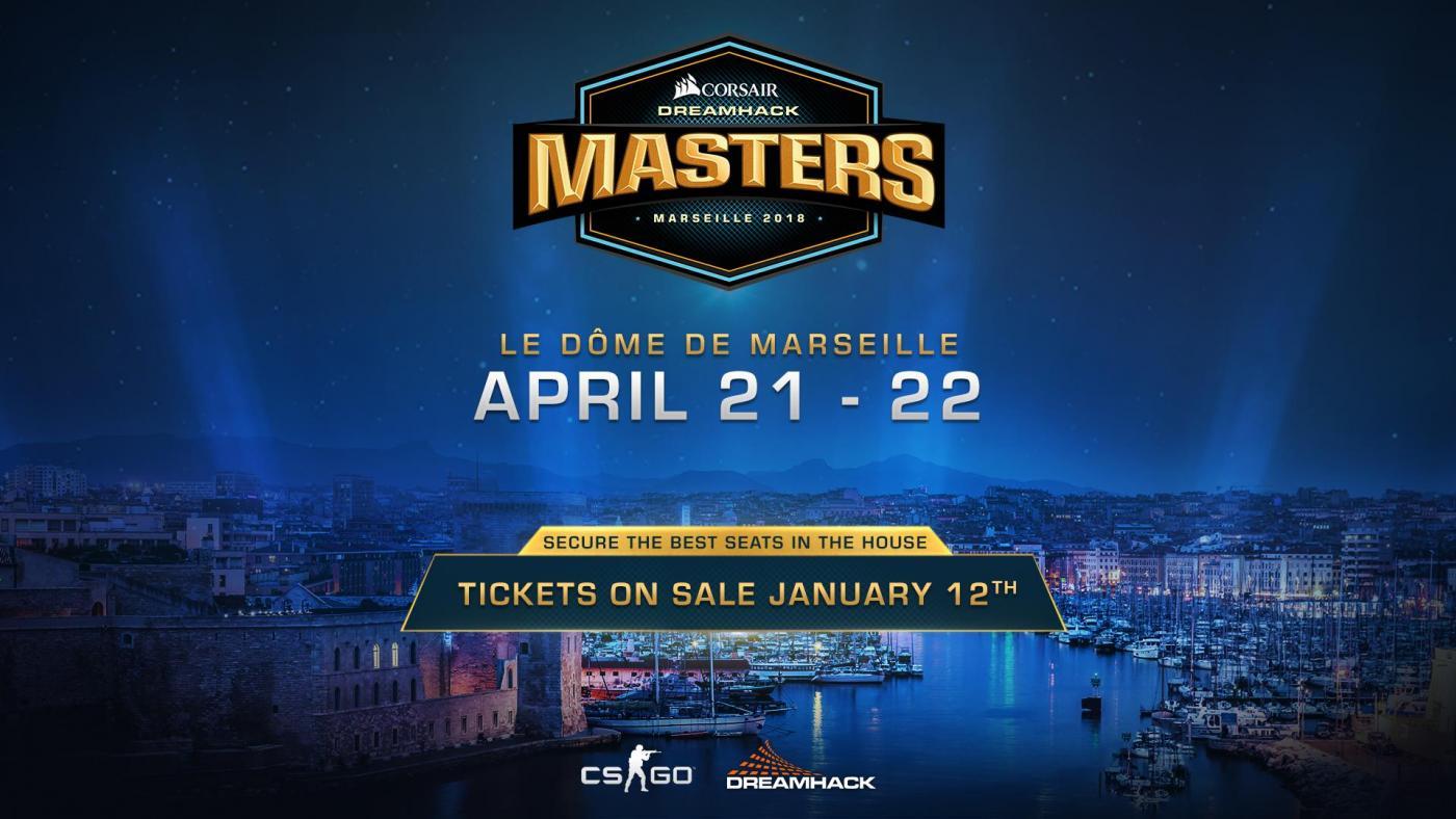 #eSport : Les DreamHack Masters CORSAIR débarquent à #Marseille en 2018 !