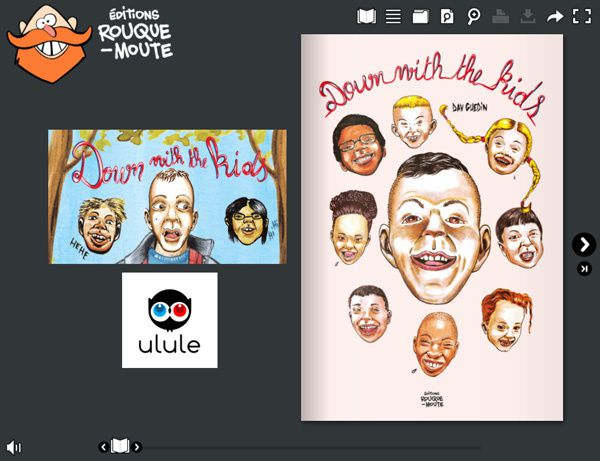 #BD #éducateur #enfance : Down with the kids, nouvel album de Dav Guedin