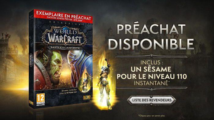 World of Warcraft Battle for Azeroth est disponible en préachat ! #WOW