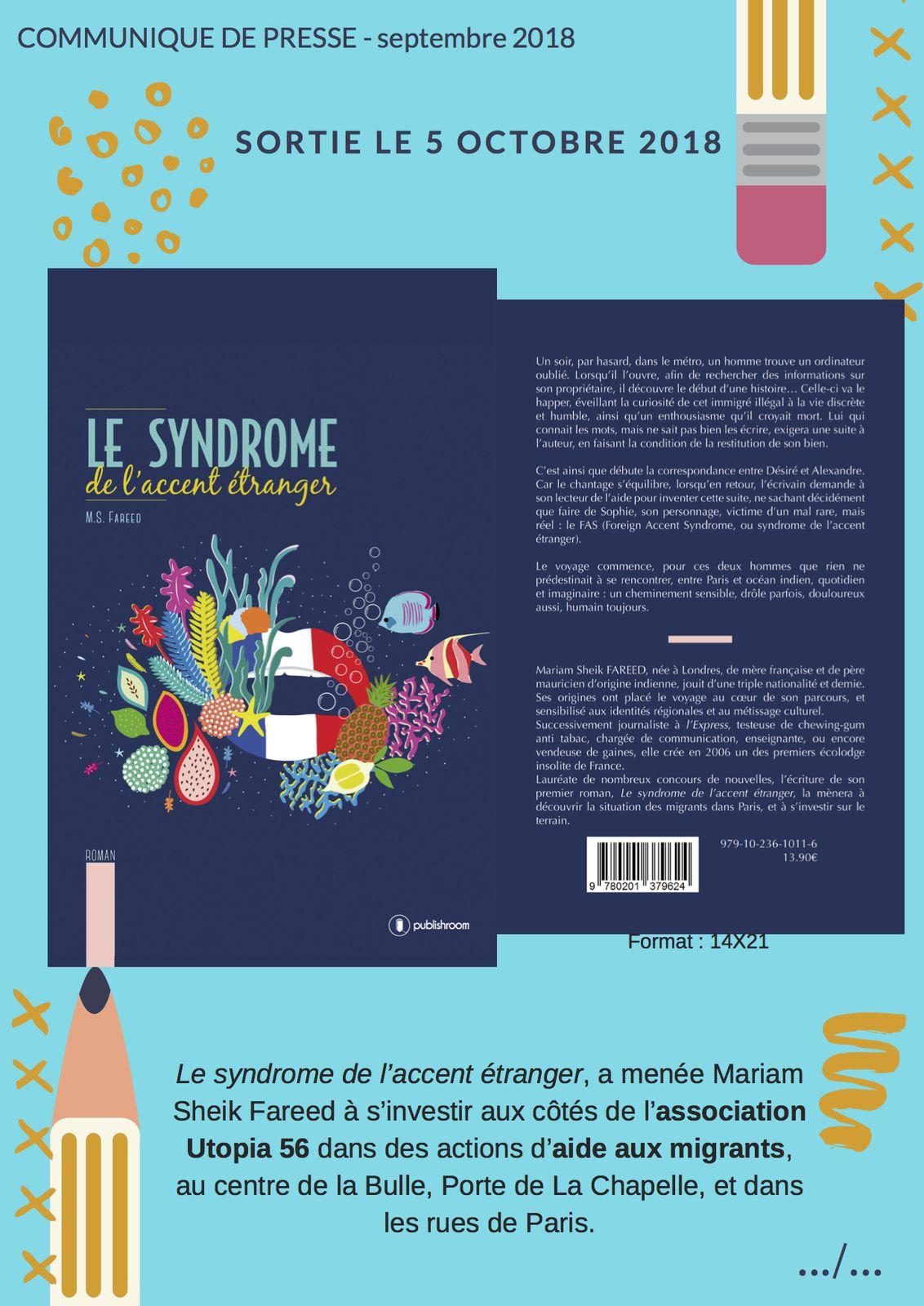 #Culture #Livre - Le syndrome de l'accent étranger par Mariam Sheik Fareed !