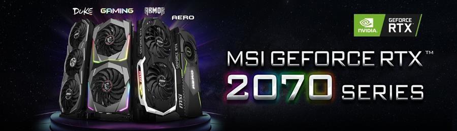 MSI dévoile ses cartes graphiques GeForce® RTX 2070