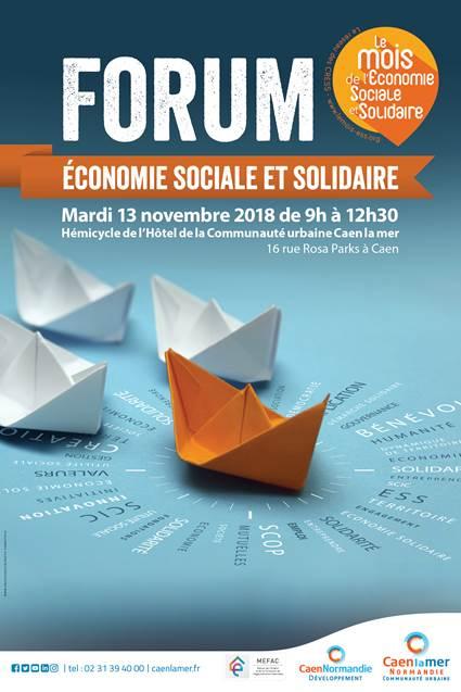 Mardi 13 novembre 2018 de 9h à 12h30, les acteurs locaux de l'Économie Sociale et Solidaire ont rendez-vous pour des tables-rondes sur l'évolution des dispositifs mis en place sur le territoire de la Communauté urbaine Caen la mer.